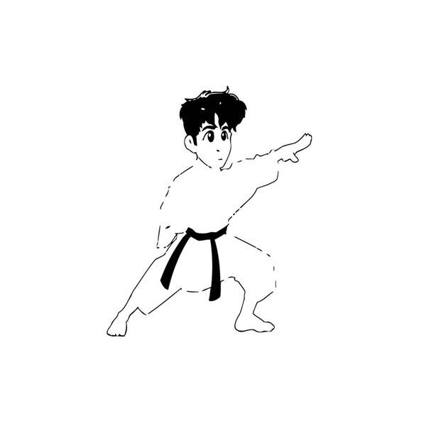 Funny Karate Teacher Vinyl Wall Art
