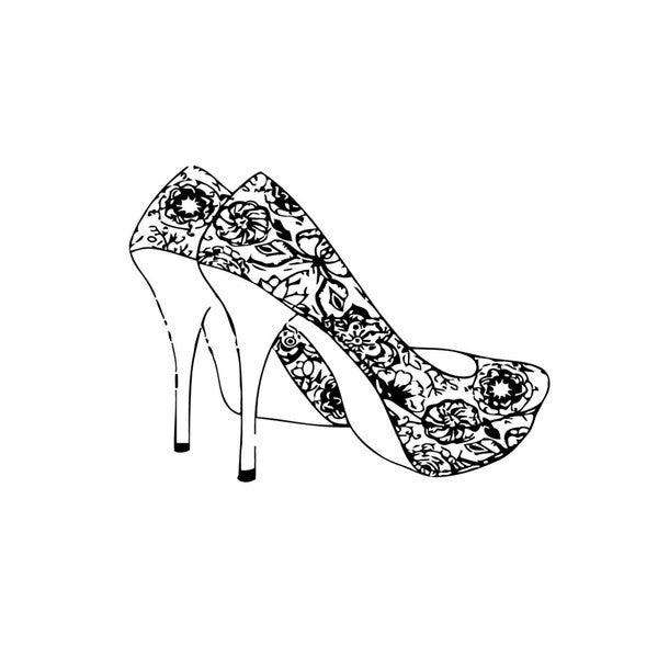High Heels Vinyl Wall Art