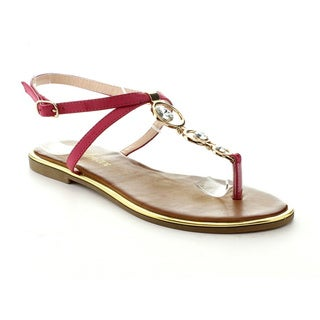 Nature Breeze Women's 'Cancun-03' Ring Hardware T-strap Sandals