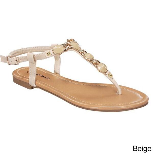 Top Moda Women's 'AE-17' Casual Flat Sandals