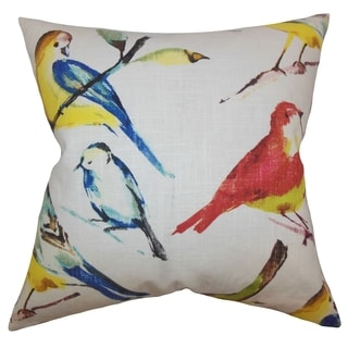 Bara Animal Feather and Down Filled Throw Print Pillow