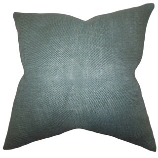 Ellery Grey Solid Feather and Down Filled Throw Pillow