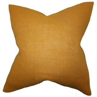 Ellery Mango Solid Feather and Down Filled 18-inch Throw Pillow