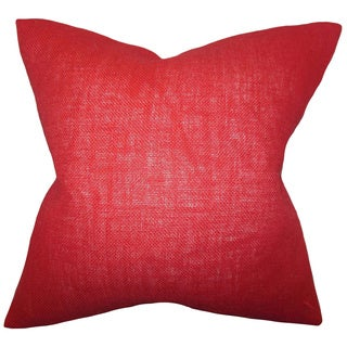 Ellery Paprika Solid Feather and Down Filled Throw Pillow