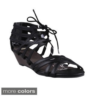 Refresh Women's 'Danny-02' Strappy Cork Wedge Gladiator Sandals