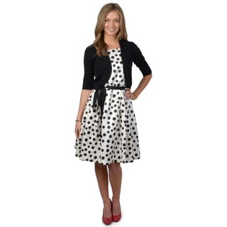 Jessica Howard Women's 2-piece Polka-dot Dress