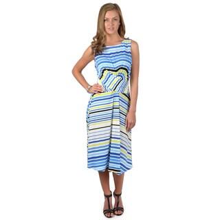 Sangria Women's Sleeveless Striped Dress