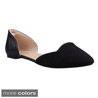 Refresh Women's 'Sonny-02' Pointed Toe D'Orsay Flats
