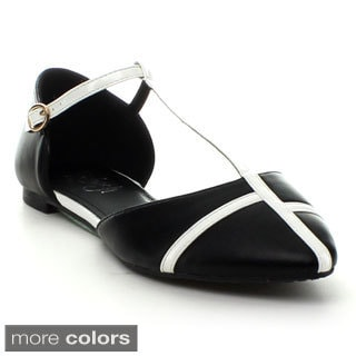 Refresh Women's 'Sonny-06' Pointed Toe D'Orsay Flat Sandals