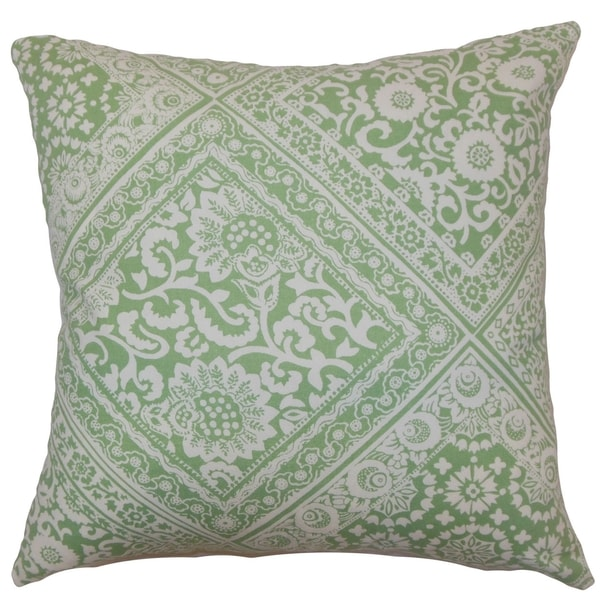Kayea Floral Mint Down Filled Throw Pillow