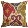Kaula Ikat Multicolor Down Filled Throw Pillow