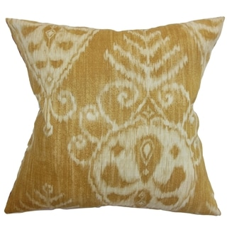 Hargeisa Ikat Dijon Down Filled Throw Pillow