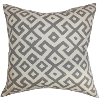 Aban Geometric Graphite Down Filled Throw Pillow
