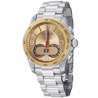 Swiss Army Men's 241619 'Chrono Classic' Gold Dial Stainless Steel Quartz Watch