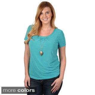 Tressa Collection Women's Contemporary Plus Short-sleeve Top