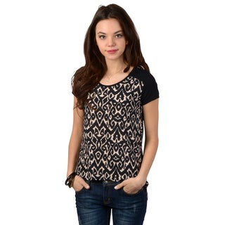 Journee Collection Women's Short-sleeve Hi-lo Top