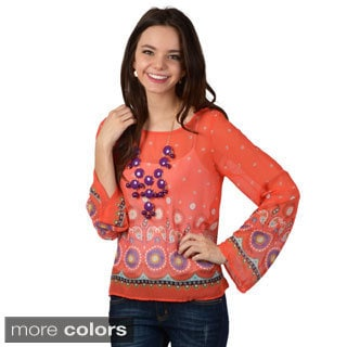 Hailey Jeans Co. Junior's Printed Chiffon Top