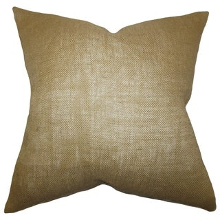 Ellery Solid Taupe Down Filled Throw Pillow