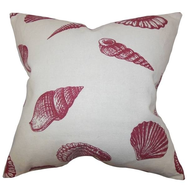 Bonnie Red Coastal Down Filled Throw Pillow