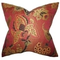 Clelia Pink Floral Down Filled Throw Pillow