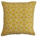 Radha Yellow Geometric Down Filled Throw Pillow