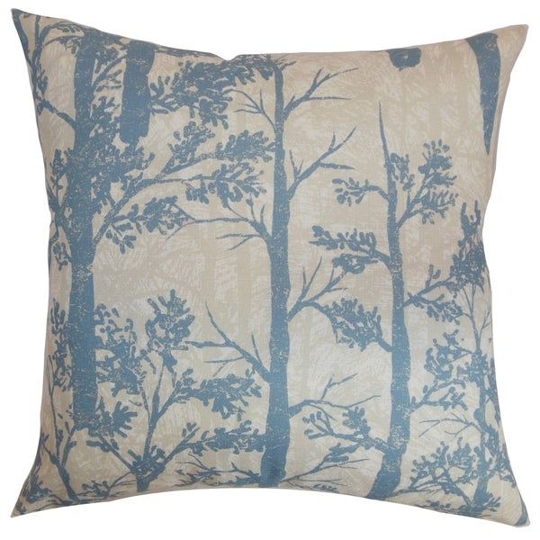 Tachilek Trees Down Fill Throw Pillow Glacier