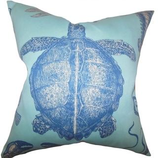 Aeliena Coastal Down Fill Throw Pillow Sky Blue