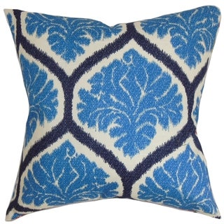 Priya Floral Down Fill Throw Pillow Blue