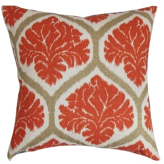 Priya Floral Down Fill Throw Pillow Russett