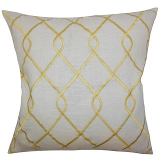 Jolo Geometric Down Fill Throw Pillow Yellow