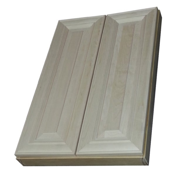 Andrew series 34 inch double door 5 5 depth wall cabinet for Kitchen cabinets 8 inches deep