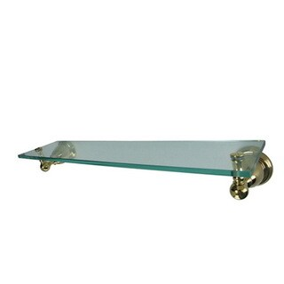 Polished Brass Bathroom Glass Shelf