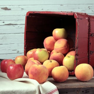 Kauffman's Fruit Farm Orchard Fresh Apple and Peach Fruit Box (Pack of 16)