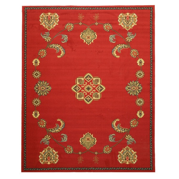 Red Arabella Rug (5'3 x 7'3)