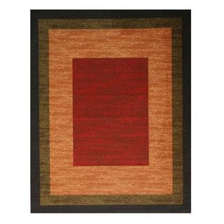 Red Gabbeh Rug (5'3 x 7'3)
