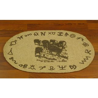Cattle Star Jute Welcome Mat