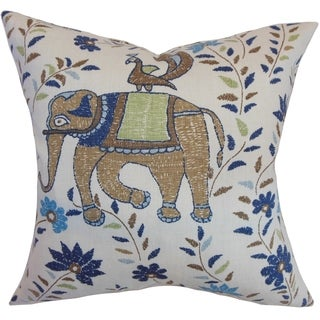 Carna Animal Down Filled Throw Print Pillow Blue Brown