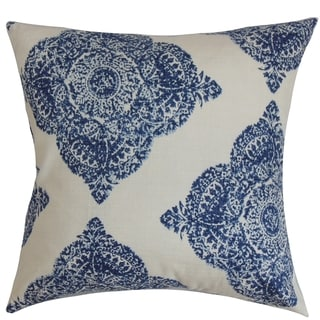 Daganya Damask Indigo Down Filled Throw Pillow