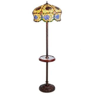 Warehouse of Tiffany Rose Floor Lamp with Table