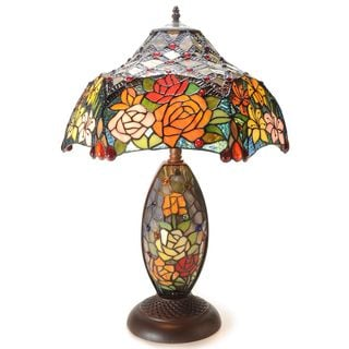 Warehouse of Tiffany Radiant Flowers Table Lamp Collection