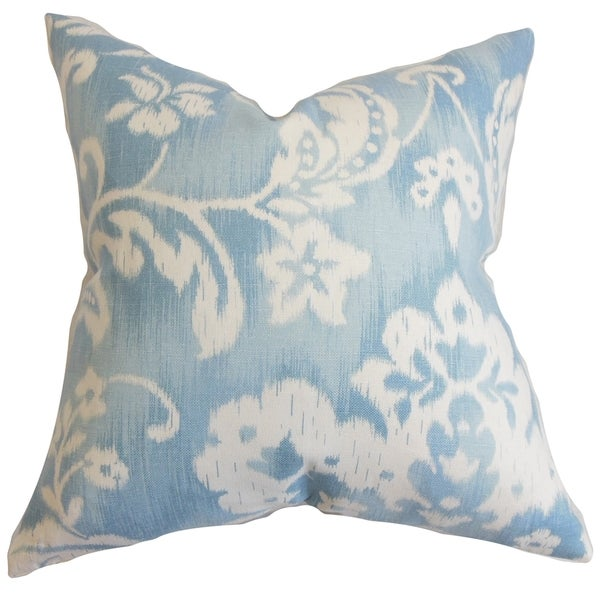 Emese Sky Blue Floral Pillow