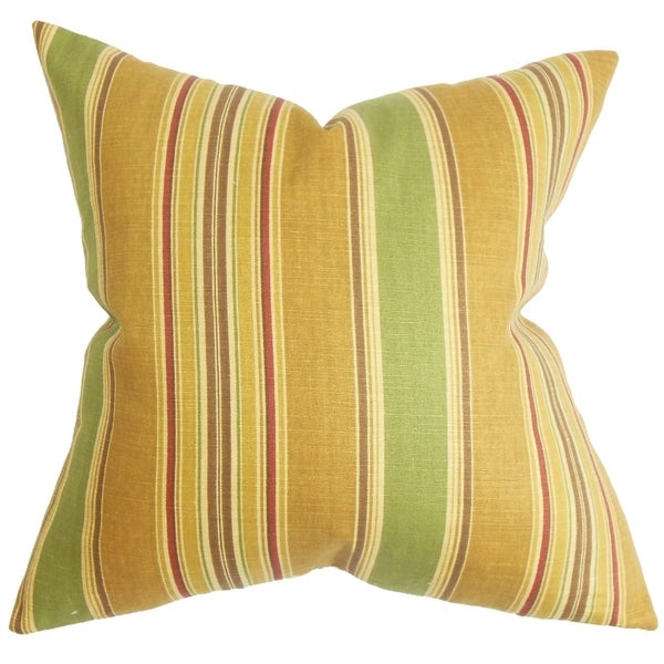 Hollis Stripes Pillow Green