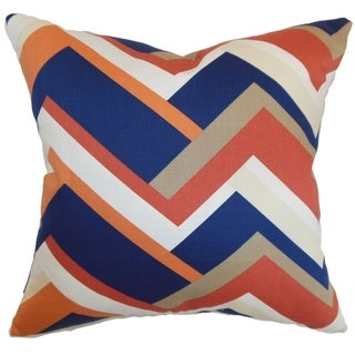 Hoonah Melon Geometric Down Filled Throw Pillow