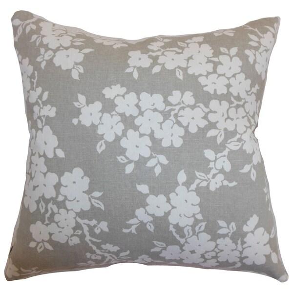 Vieste Flora Smoke Down Filled Throw Pillow