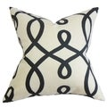 Chloris Black and White Geometric Down Filled Throw Pillow