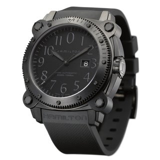 Hamilton 'Belowzero' Men's 1000M Black Rubber Watch