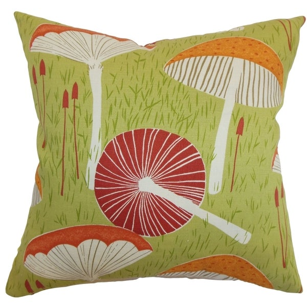 Xichan Floral Moss Down Filled Throw Pillow