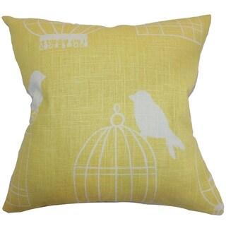 Alconbury Birds Down Filled Throw Pillow Canary
