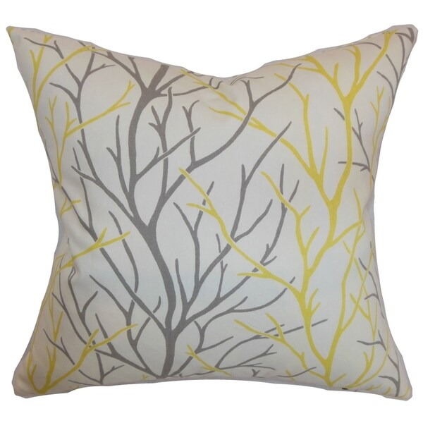 Throw Pillow Filling : Fderik Trees Down Filled Throw Pillow Canary - 16232597 - Overstock.com Shopping - Great Deals ...