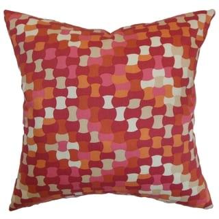 Gaya Geometric Down Filled Throw Pillow Berry